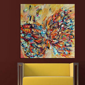Handpainted Animal Wall Pictures Abstract Colorful Butterfly Art Oil Painting On Canvas Home Decor Hang Wall Art