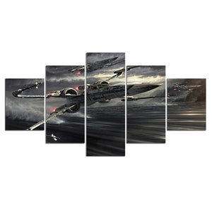 5 Panel Fighter Aviation Painting Canvas Wall Art Picture Home Decoration Living Room Canvas Print Painting