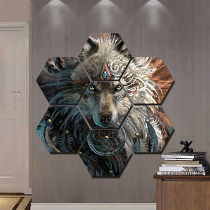 Wolfface Dream Catcher Progress by Sunima Art7 Pieces Canvas Prints Painting Wall Art