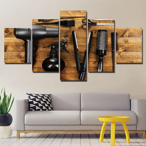Canvas Painting Wall art Print 5 Panels Barber Poster Canvas Painting