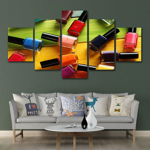 Wall Art Poster Modular Canvas HD Prints Paintings 5 Pieces Pictures Nail oil Beauty Salon Home Decor