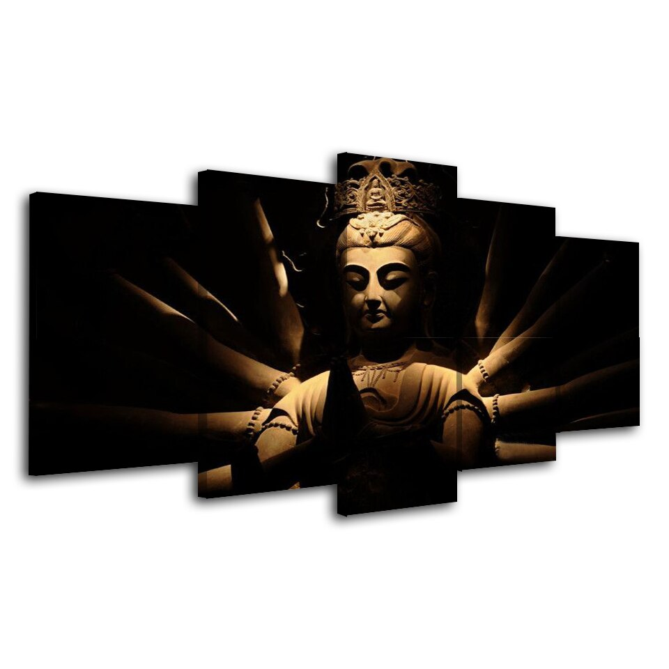 Print Painting Modular Poster Vintage Art 5 Pieces Hindu God Home Decor HD Canvas Wall Tableau Picture