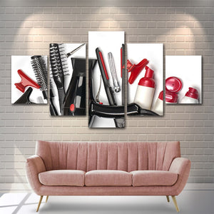 Modular Pictures 5 Panels Hair Salon Pictures Canvas Painting Wall Art Pictur Print Paintings