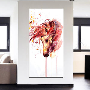 Wall Picture Home Decor Canvas Painting Wall Print Panel Watercolor Horse Head Home Decor Pictures