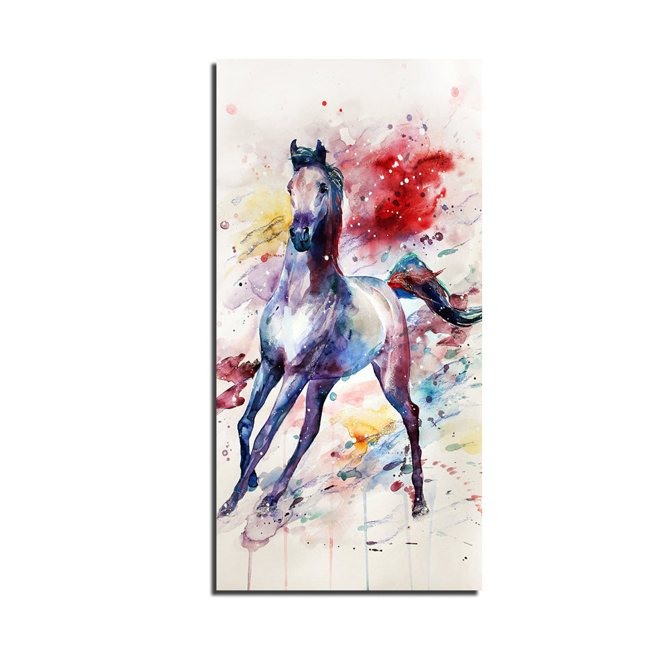 Modular Pictures 1 Panel Watermark Colorful Horse Poster Wall Art Modular Paintings Wall Pictures Canvas Painting