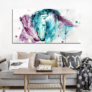 1 Panel Horses Horse Couples Animals Canvas Wall Art Picture Home Decoration Living Room Canvas Print Painting Canvas Art