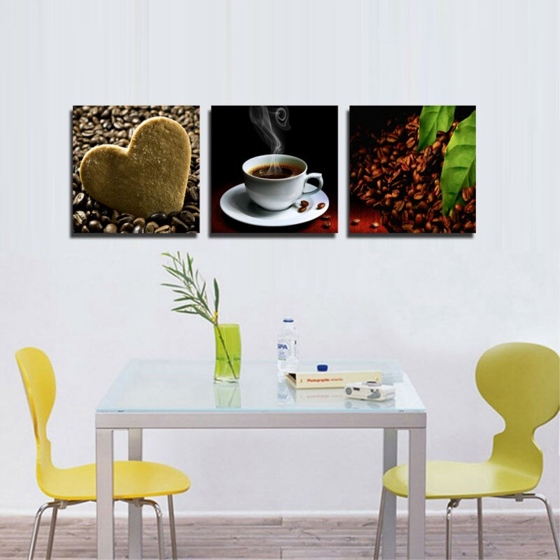 3 Piece Wall Art Picture Canvas Painting Wall  Paint Coffee Kitchen Hone Modern Wall Painting Home Decorative