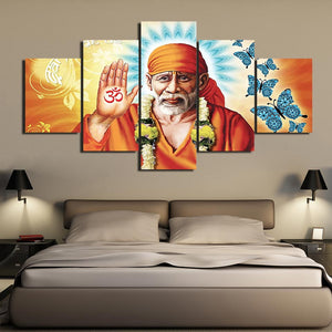 Modern Wall Art Lord Shiva HD 5 Piece Canvas Painting Hindu God Picture Living Room Poster Artwork