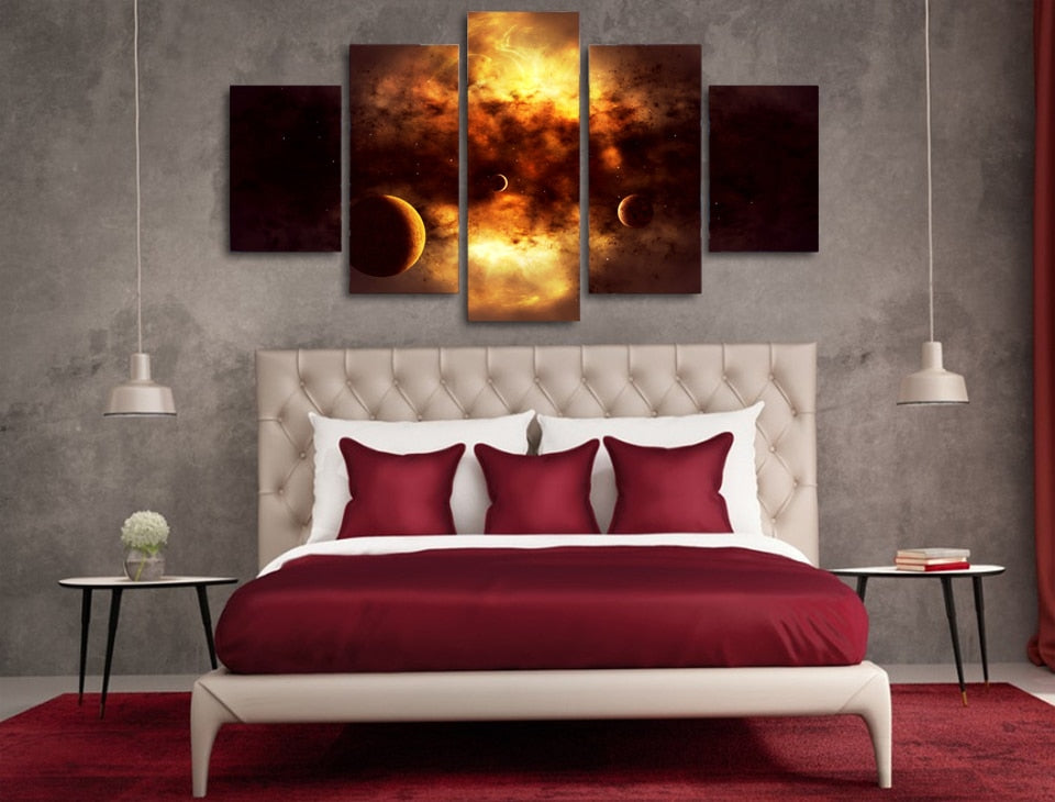 HD Printed Space Clouds Painting Canvas Print Room Decor Print Poster Picture
