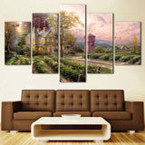 5 Piece painting Wall Art Print Canvas Kitchen Decoration Living Room HD Prints Thomas Abundant