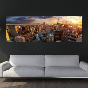 Wall Art Canvas 1 Piece City Sunset Scenery Picture Landscape Poster Prints Painting Living Room Home Decoration
