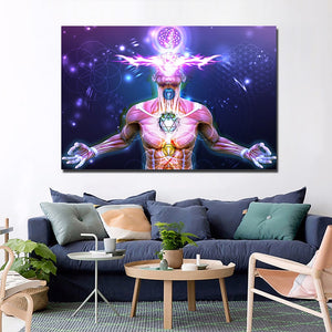 HD Modern 1 Panel Painting Canvas Psychedelic Zen Artwork Home Decor Wall Art Picture Living Room