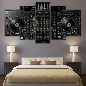 HD Printed 5 Piece Canvas Art DJ Music Player Painting Music Poster Wall Pictures Living Room Modern