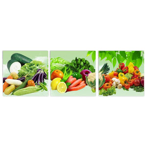 3 Panels Canvas Wall Art Wall Pictures Modern Wall Painting 3D Fruits Kitchen Decorative Paint