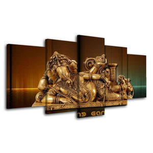 Painting Modular Picture Wall Art Modern Printing Type 5 Pieces Hindu Flamingo God Canvas Home Decoration