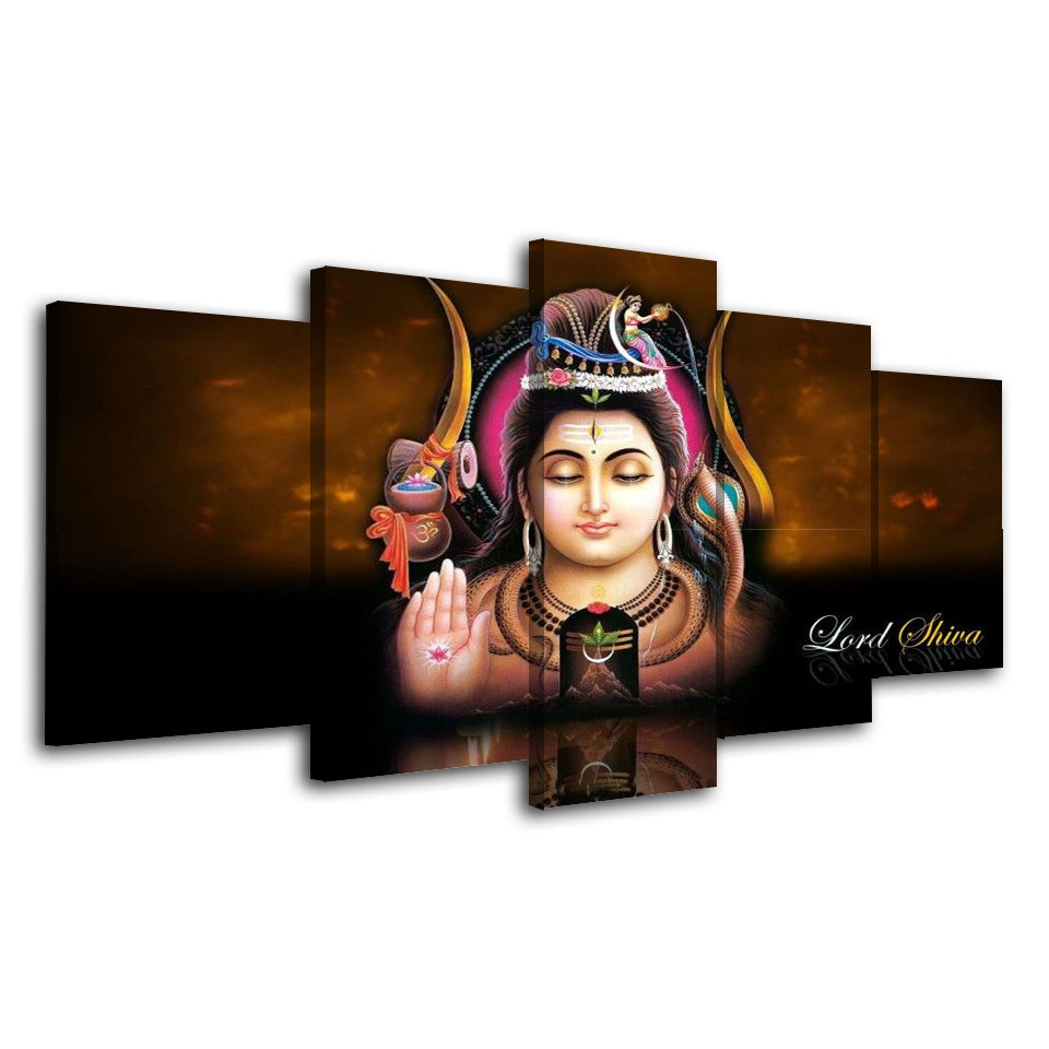 Painting Modular Modern Printing Type Picture Wall Art 5 Pieces Hindu Buda Gods Canvas Home Decoration