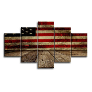 USA American Flag Military Canvas Prints Wall Art Independence Day Vintage Thin Blue Line Home Decor Pictures