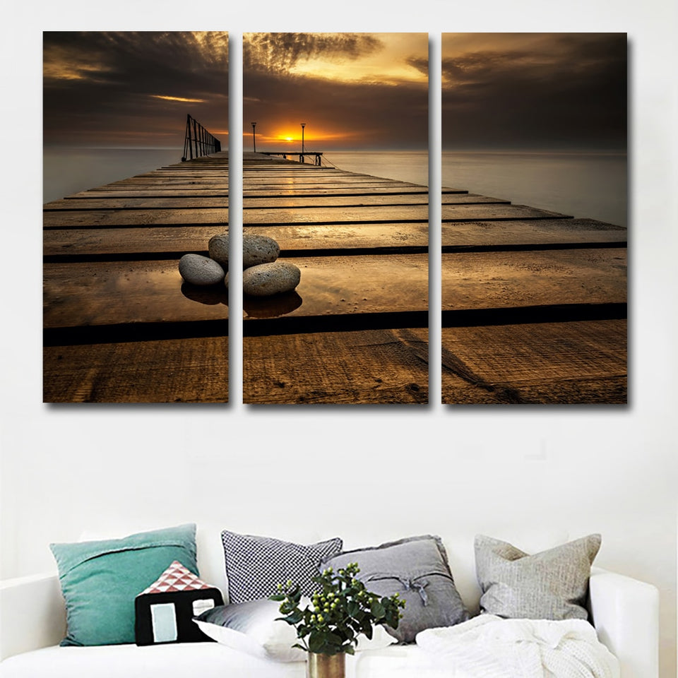 3 Panels Set Bulgaria Deck Stones Wall Canvas Art Print Painting Poster Modular Picture Home Decoration