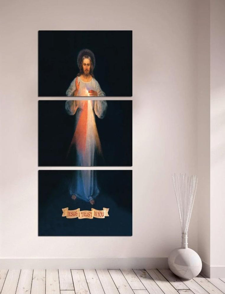 Wall Art HD Prints Canvas Art Painting Modular Picture And Poster Christian Jesus Painting Decoration 3 Pieces