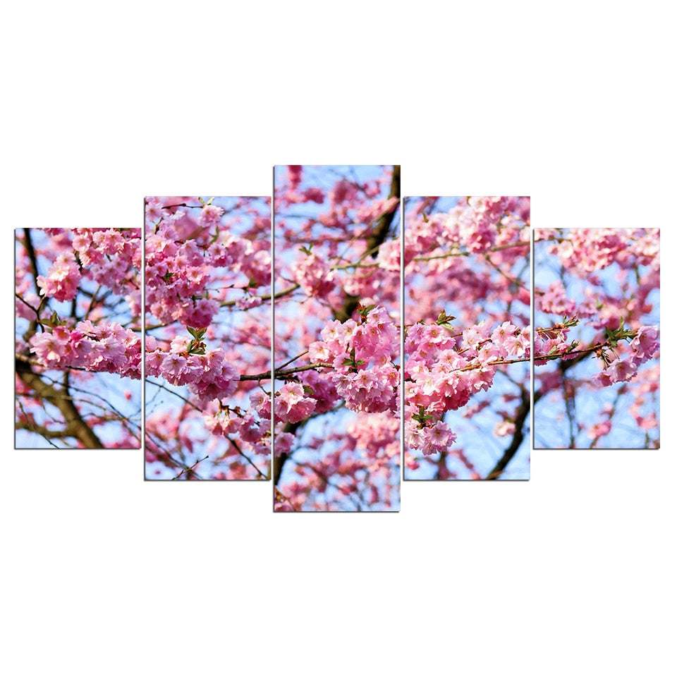 5 Pieces Wall Art Picture Gift Cherry Home Decoration Canvas Print Painting Living Room