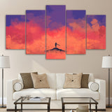 5 Piece Canvas Art HD Print Home Decoration Alone Minimal Paintings Living Room Wall Poster Picture