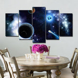 5 Panel Painting Canvas Star Sky Universe Space Wall Art Picture Home Decoration Living Room Canvas Print