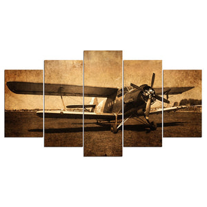 5 Panel Plane Painting Canvas Wall Art Picture Canvas Print Painting