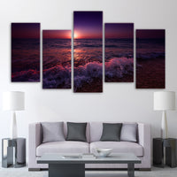 HD Printed Sea Evening Sky Painting On Canvas Room Decoration Print Poster Picture
