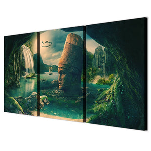 3 Panels Canvas Art Fantastic Rock Land Home Decoration Wall Art Painting Canvas Prints Pictures Living Room Poster