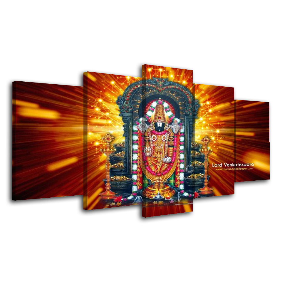 5 Piece Canvas Art Hindu God Painting Art Flamingo Painting Posters Canvas Buda