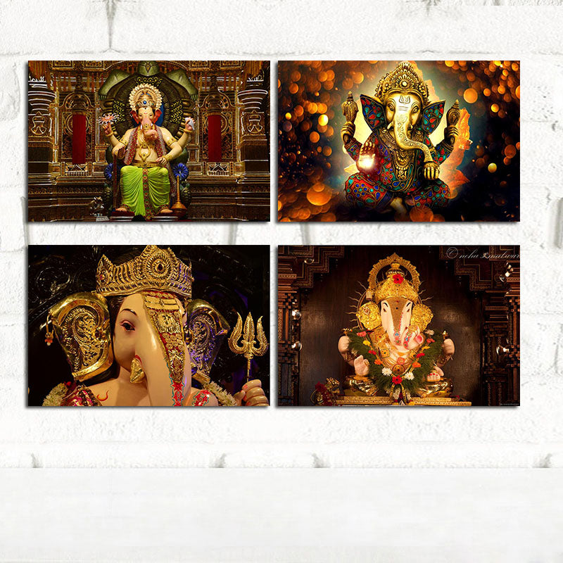 God Of Wealth Hindu Gods Posters and Prints Wall Art Scandinavian Wall Picture Canvas Paintings Home Decorative