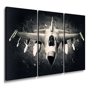 Airplane Pictures Canvas Print Wall Art Vintage Aircraft Aviation Black White Prints Artwork Office