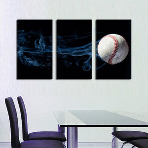 Home Decoration Posters 3 Pieces Sports Tennis Ball Smoke Canvas Painting HD Print Wall Art Picture