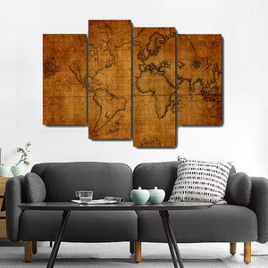 Wooden Board World Map Canvas Painting Calligraphy Oil Poster  Prints Living Room House Wall Decor Art Home