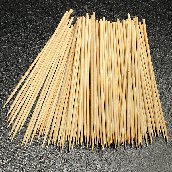 100pcs 15cm Kebab Skewers Bamboo Grill BBQ Fruit Stick