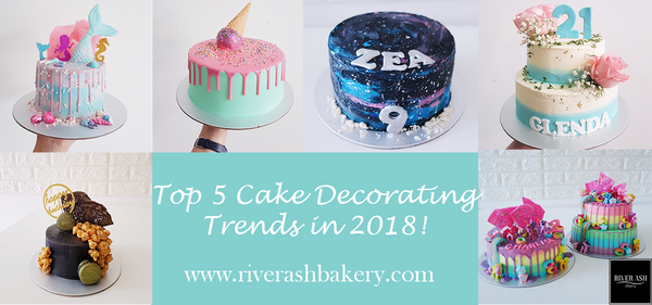 Top 5 Cake Decorating Trends in 2018! Drip cakes, black