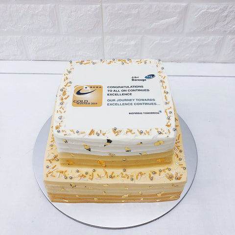 Corporate Anniversary Cakes with Company Logo