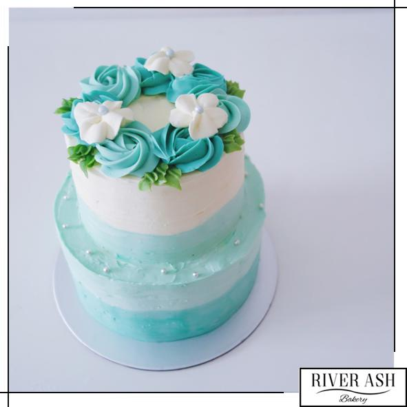 2D Floral Wreath Cake-River Ash Bakery