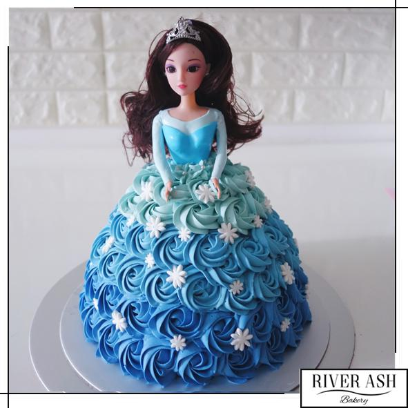 3D Princess Doll Cake-River Ash Bakery