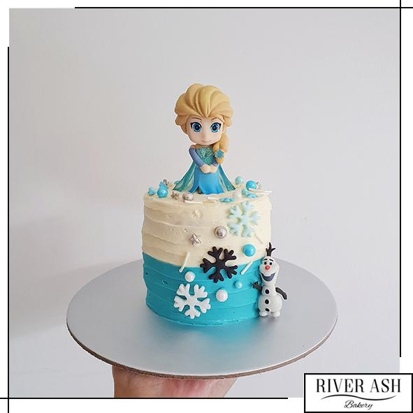 "4"" Tall Frozen Else and Olof Cake-River Ash Bakery"