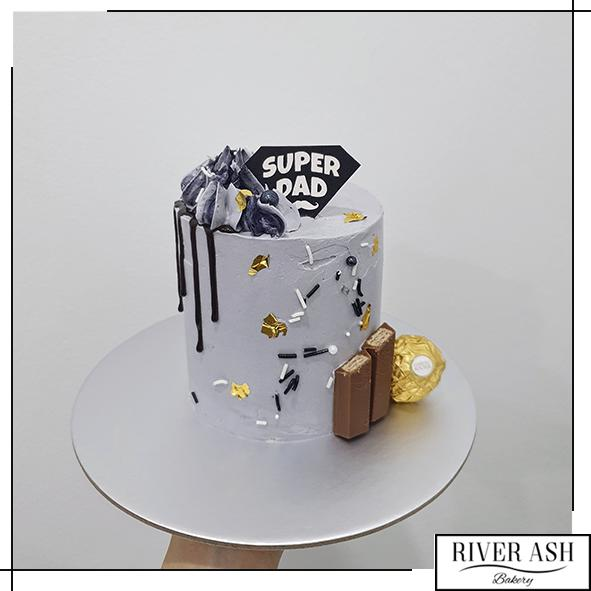 "4"" Tall Super DAD Cake/Father's Day Cake-River Ash Bakery"