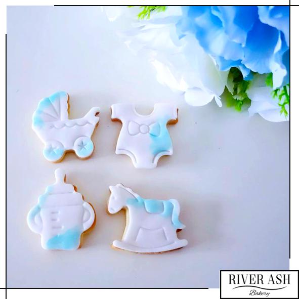 Baby Shower/Full Month Cookies-River Ash Bakery