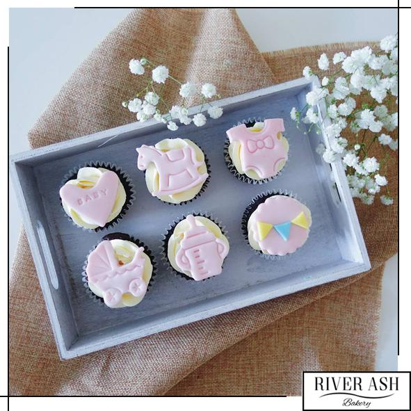 Baby Shower/Full Month Cupcake-River Ash Bakery