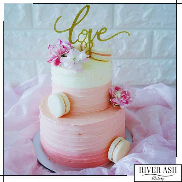 Carnation Blooms Cake-River Ash Bakery