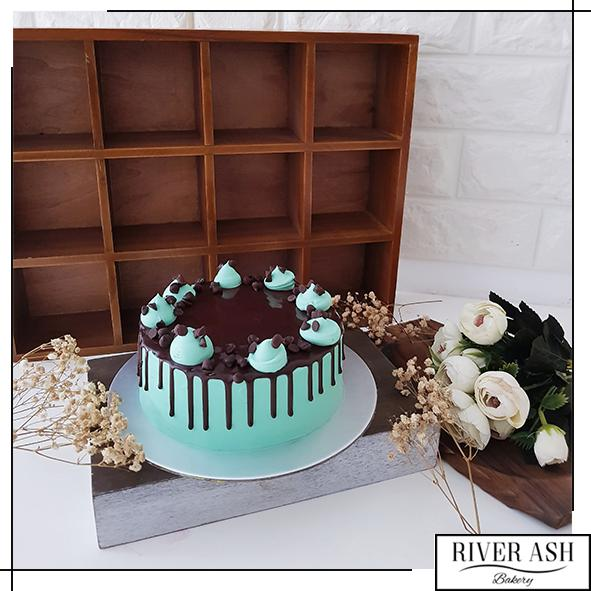 Chocolate Mint Chip Cake-River Ash Bakery