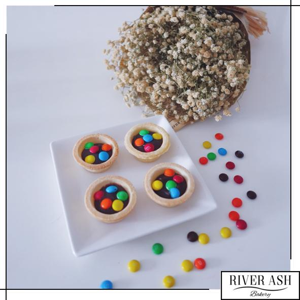 Chocolate M&M Tarts-River Ash Bakery