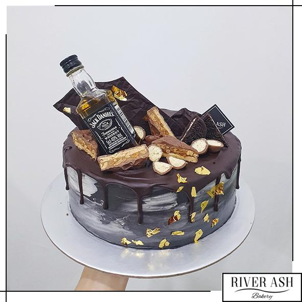 Concrete Gold Jack Daniel Liquer/Whisky/Whiskey Cake-River Ash Bakery
