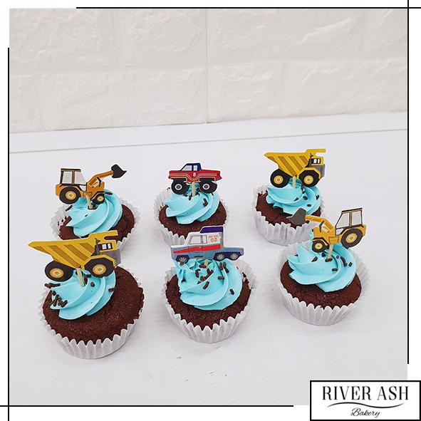 Construction Excavator Cupcakes-River Ash Bakery