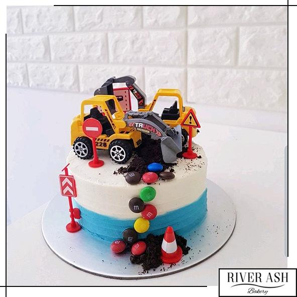 Excavator Cake with M&Ms-River Ash Bakery