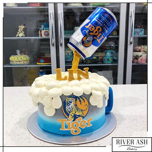 Gravity Tiger Beer Cake-River Ash Bakery